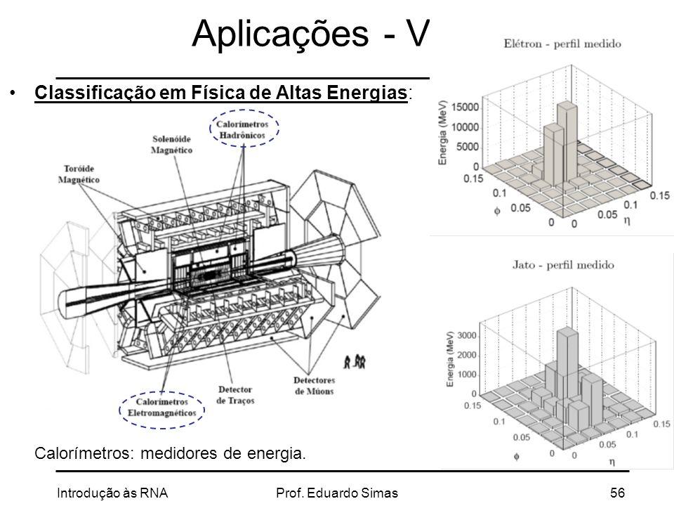 Aplicações - V Classificação em Física de Altas Energias:
