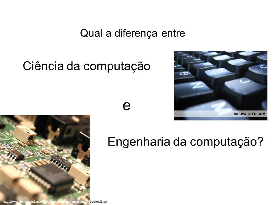 e Ciência da computação Engenharia da computação