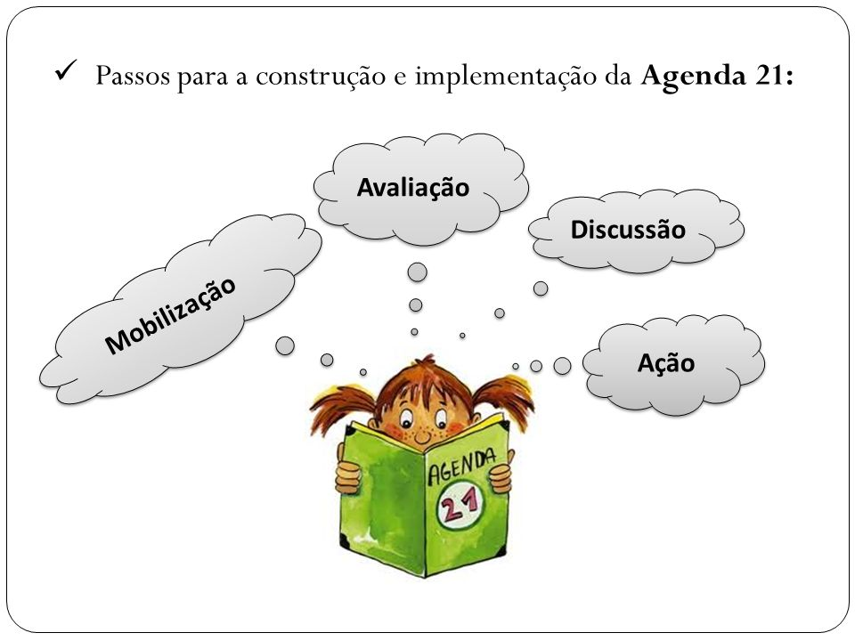 Passos para a construção e implementação da Agenda 21: