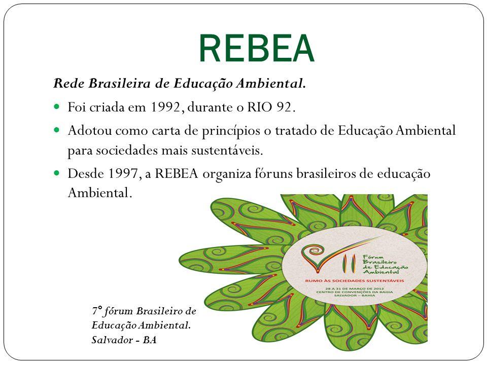 REBEA Rede Brasileira de Educação Ambiental.