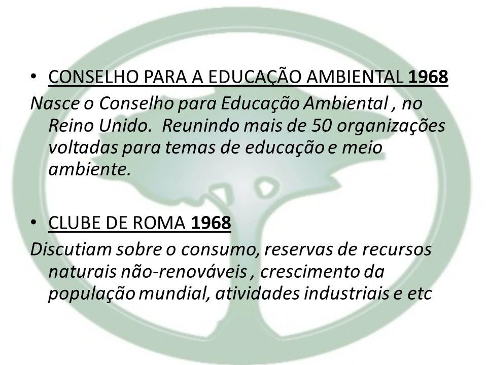 CONSELHO PARA A EDUCAÇÃO AMBIENTAL 1968