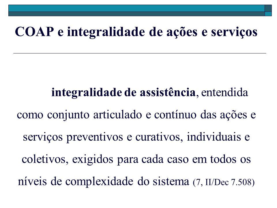 COAP e integralidade de ações e serviços
