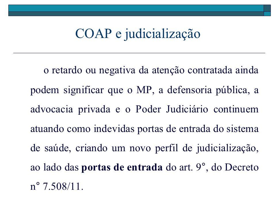 COAP e judicialização
