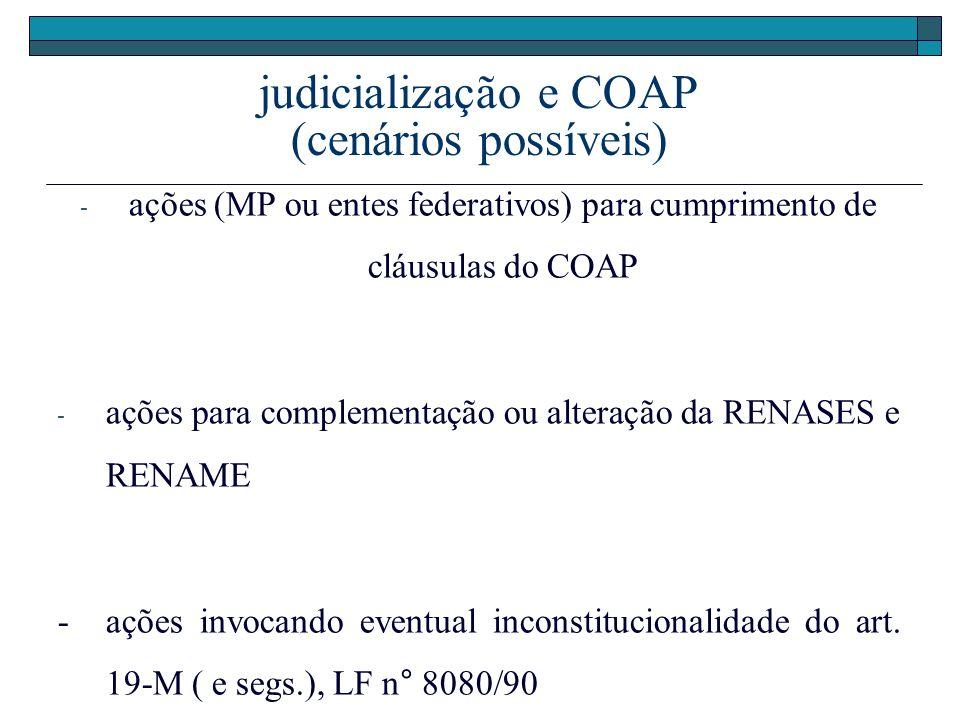 judicialização e COAP (cenários possíveis)