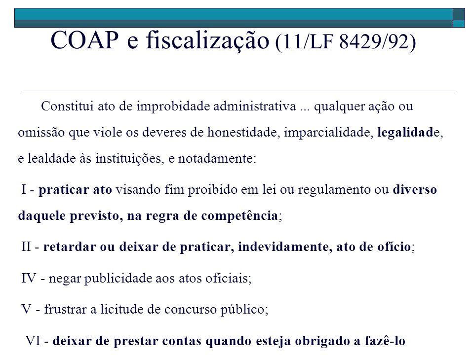 COAP e fiscalização (11/LF 8429/92)