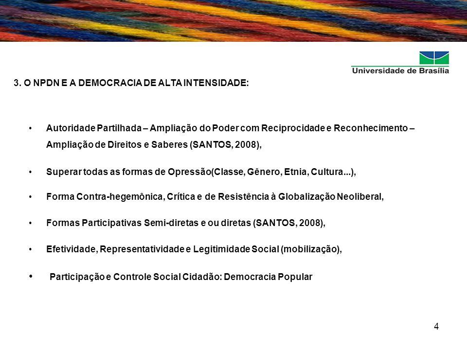 Participação e Controle Social Cidadão: Democracia Popular