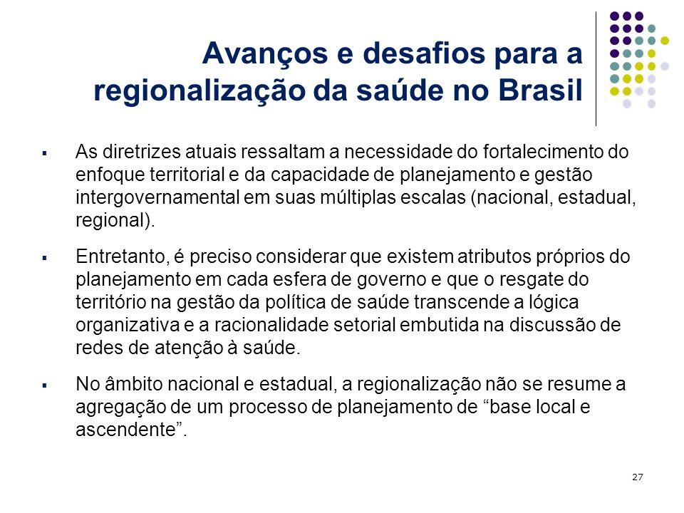 Avanços e desafios para a regionalização da saúde no Brasil