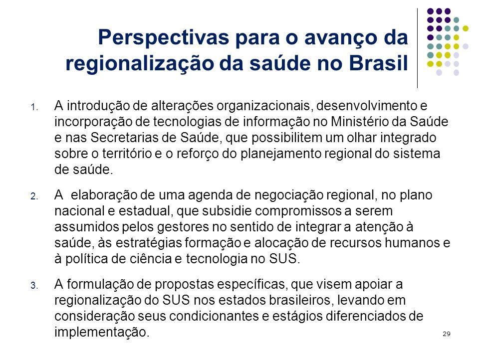 Perspectivas para o avanço da regionalização da saúde no Brasil