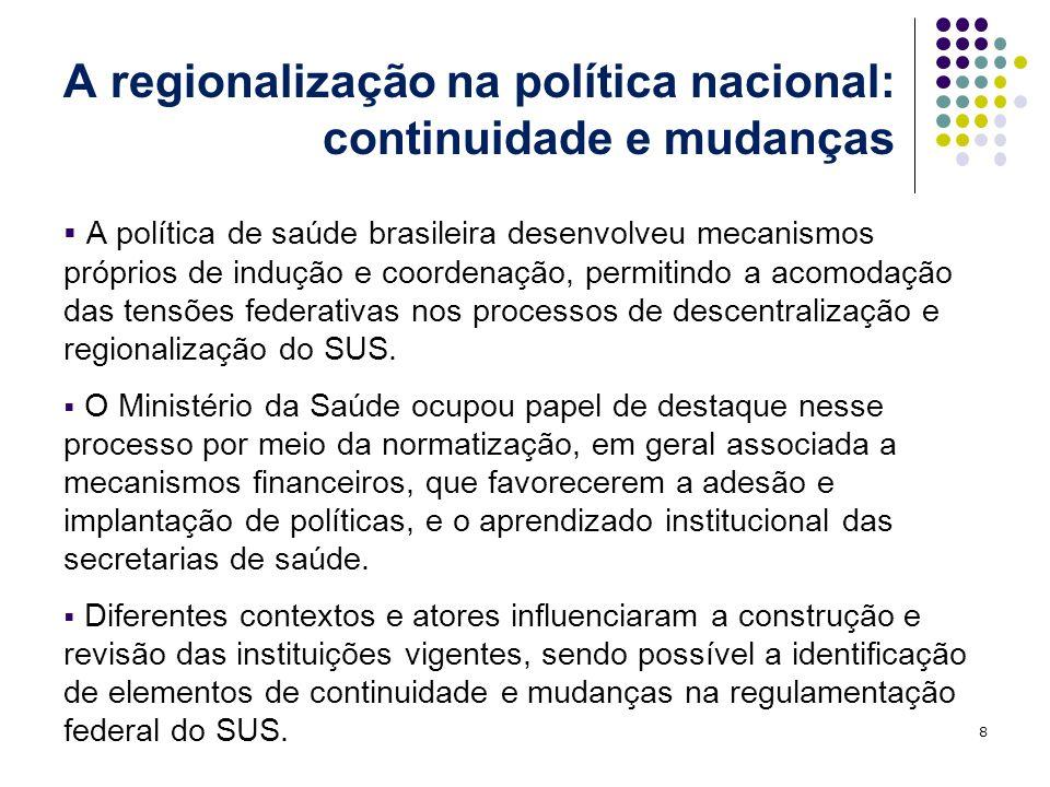 A regionalização na política nacional: continuidade e mudanças