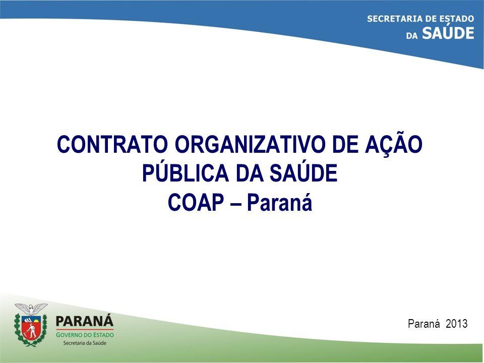 CONTRATO ORGANIZATIVO DE AÇÃO PÚBLICA DA SAÚDE COAP – Paraná