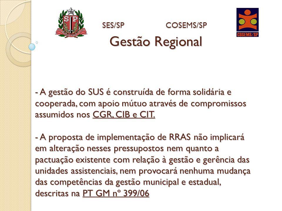 Gestão Regional SES/SP COSEMS/SP