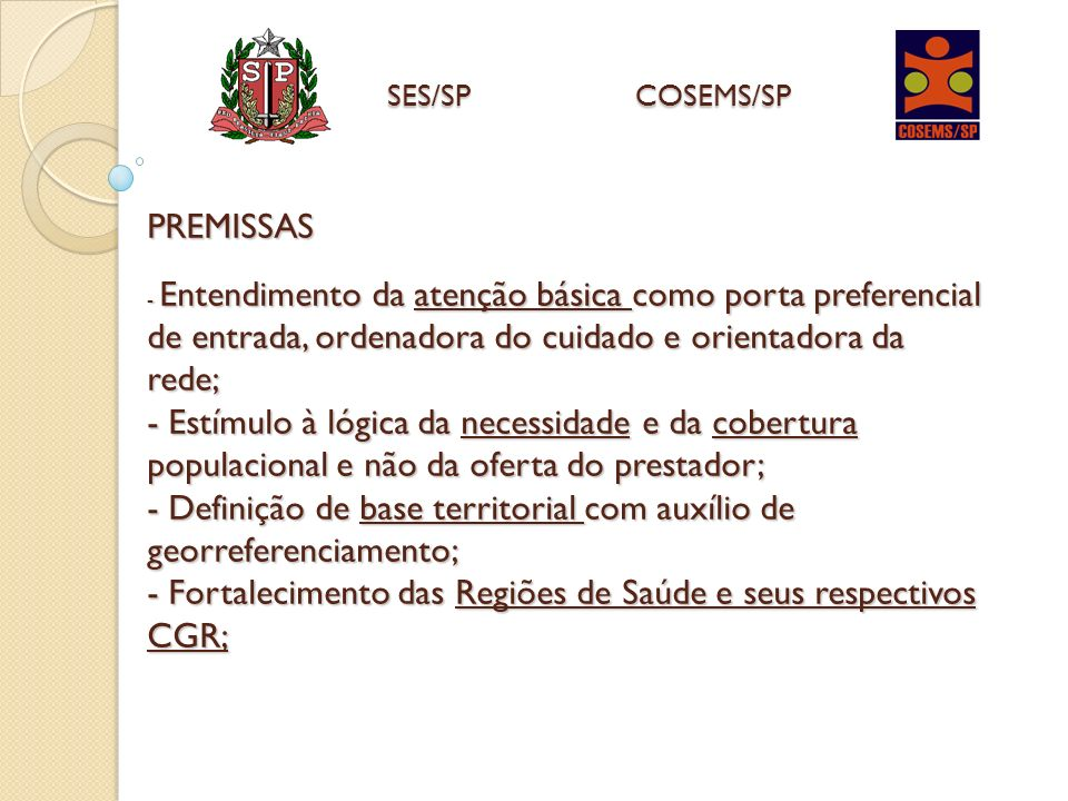 SES/SP COSEMS/SP