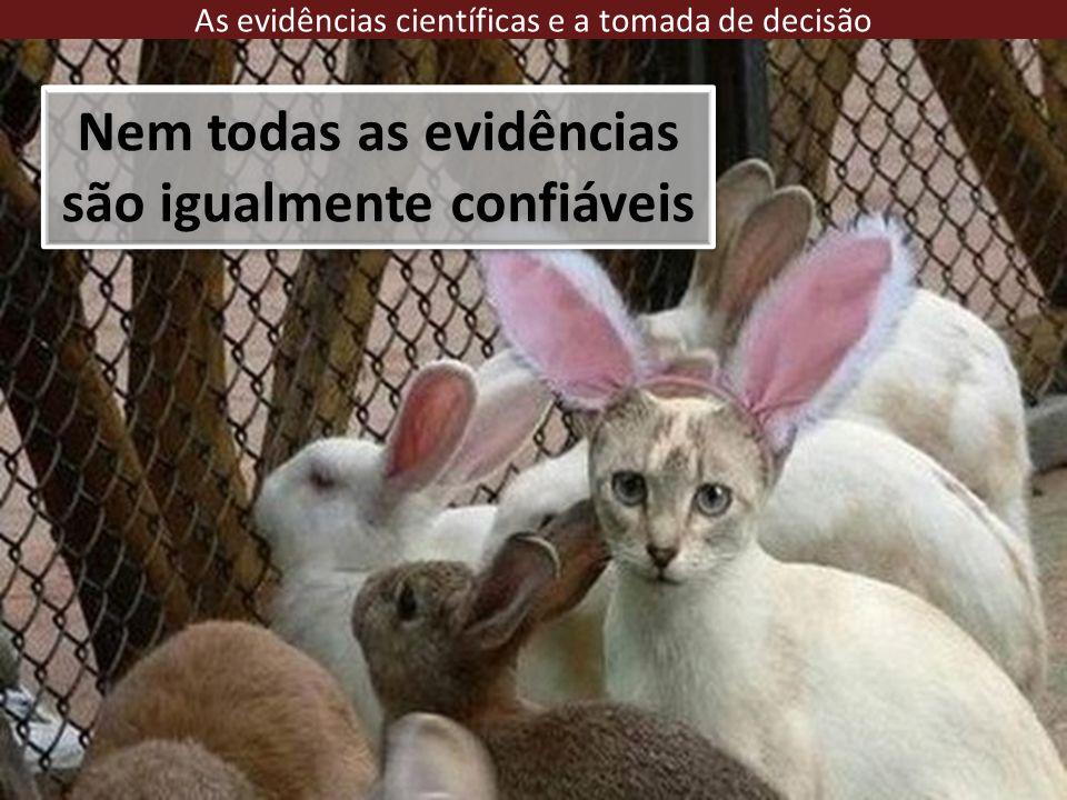 Nem todas as evidências são igualmente confiáveis