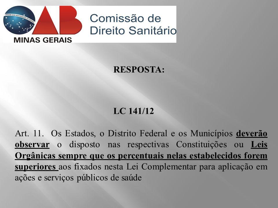 RESPOSTA: LC 141/12.