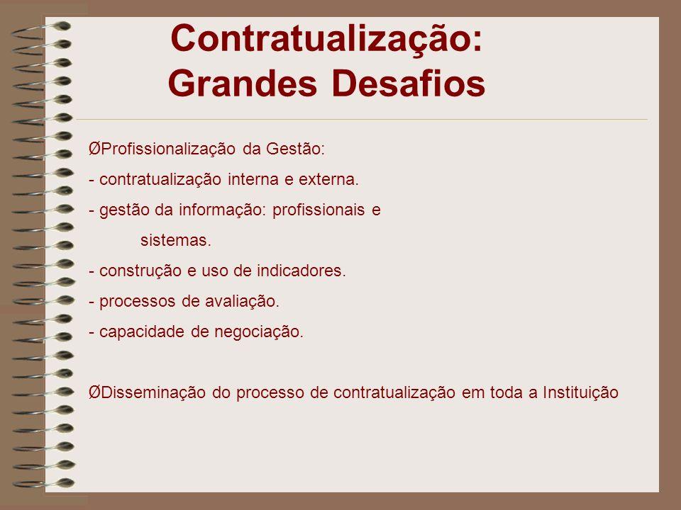 Contratualização: Grandes Desafios