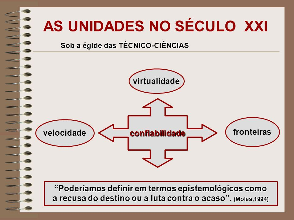 AS UNIDADES NO SÉCULO XXI
