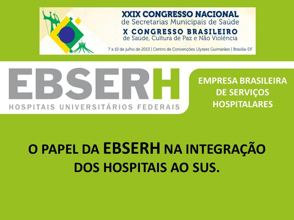 ''''' O PAPEL DA EBSERH NA INTEGRAÇÃO DOS HOSPITAIS AO SUS.