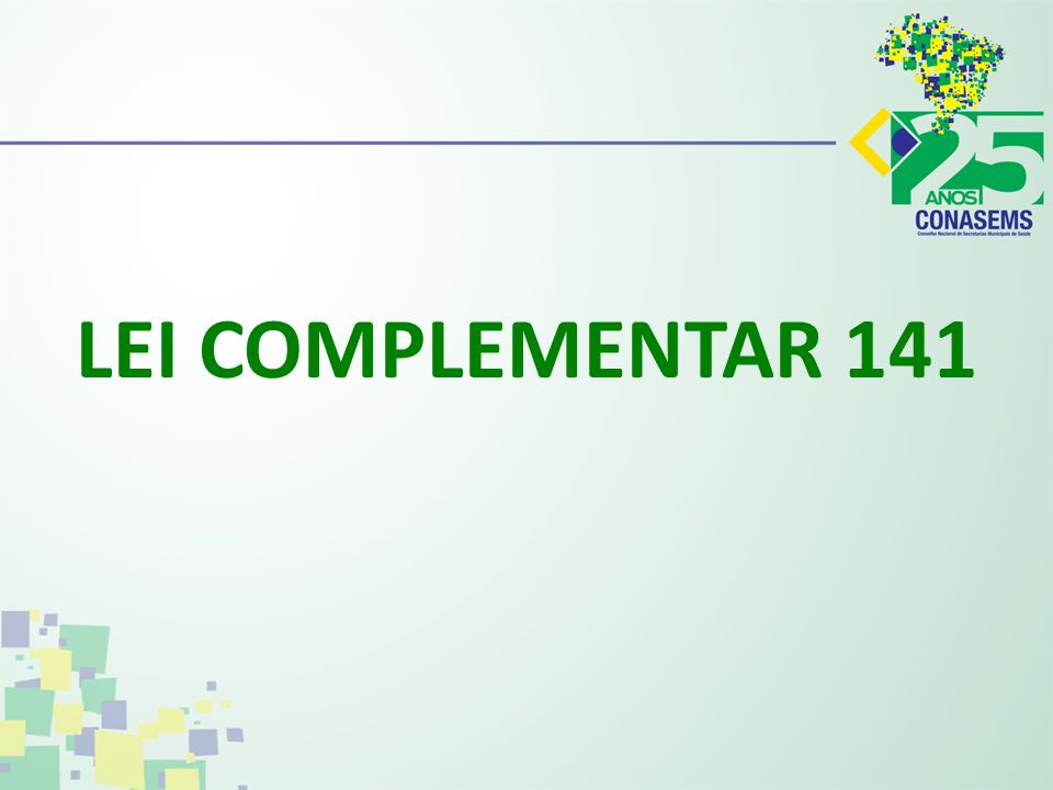 LEI COMPLEMENTAR 141