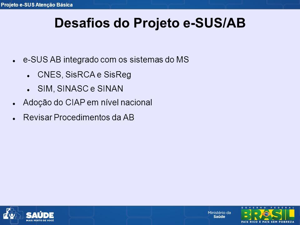 Desafios do Projeto e-SUS/AB