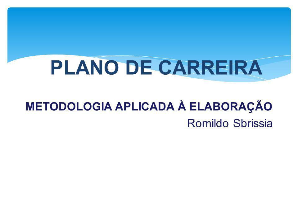 METODOLOGIA APLICADA À ELABORAÇÃO Romildo Sbrissia