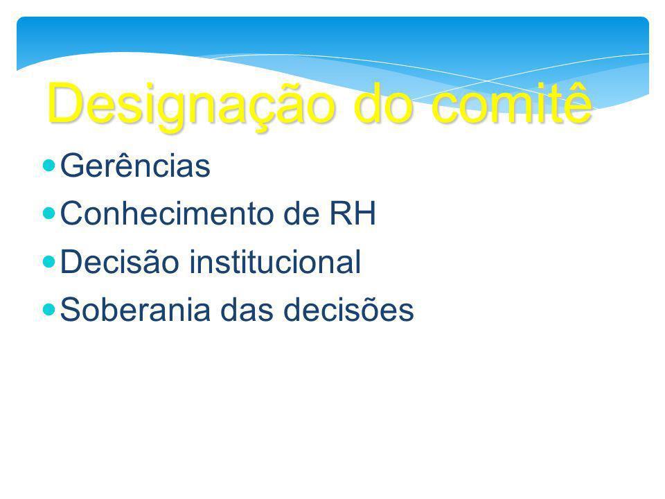 Designação do comitê Gerências Conhecimento de RH