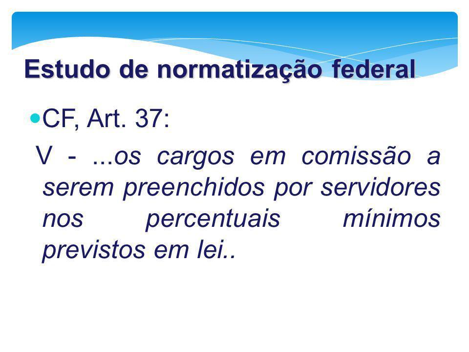 Estudo de normatização federal
