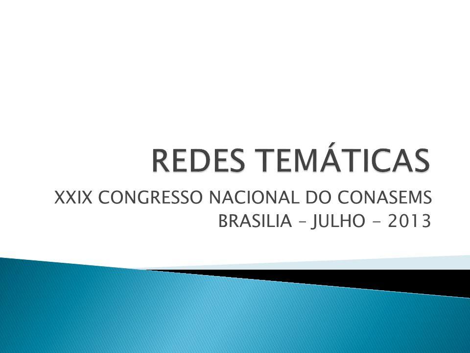 XXIX CONGRESSO NACIONAL DO CONASEMS BRASILIA – JULHO - 2013