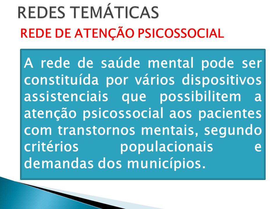REDES TEMÁTICAS REDE DE ATENÇÃO PSICOSSOCIAL.