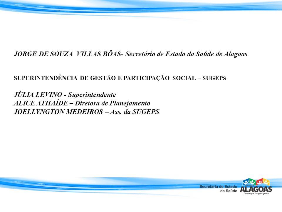 JORGE DE SOUZA VILLAS BÔAS- Secretário de Estado da Saúde de Alagoas