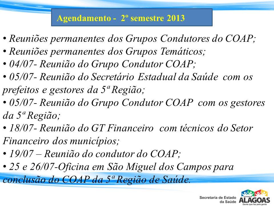 Agendamento - 2º semestre 2013