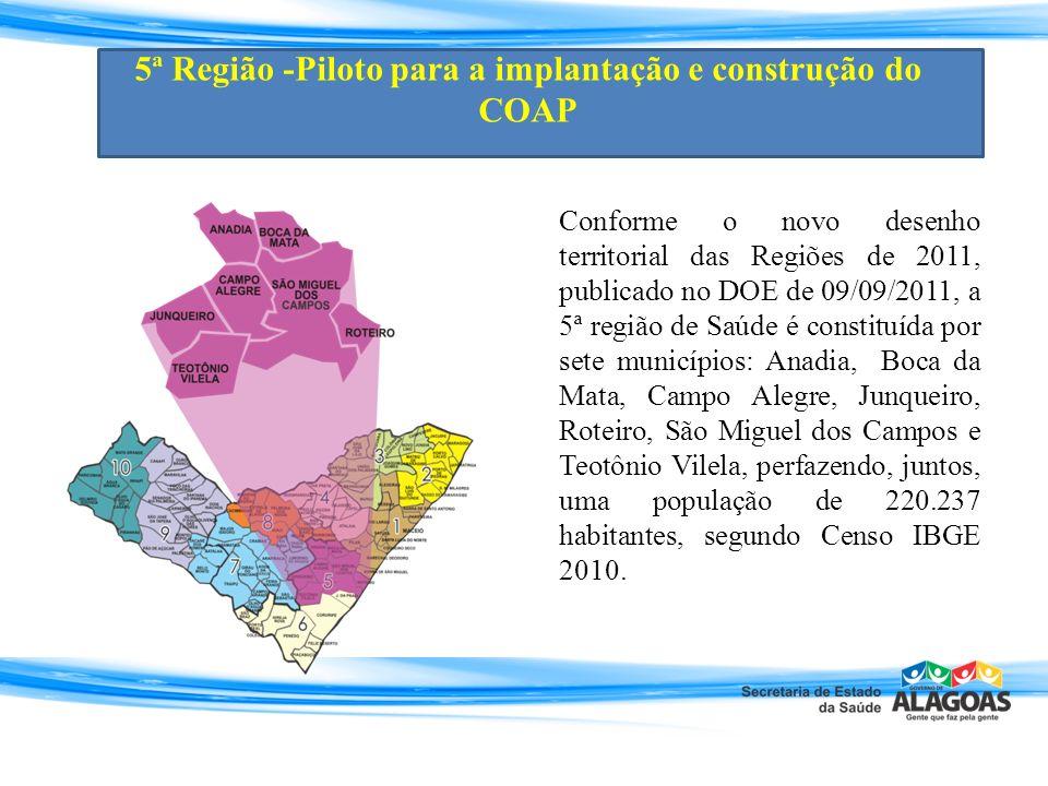 5ª Região -Piloto para a implantação e construção do COAP