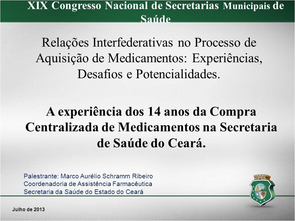 XIX Congresso Nacional de Secretarias Municipais de Saúde