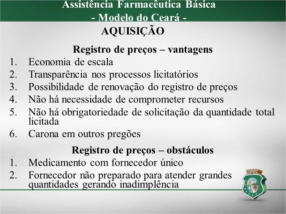 Assistência Farmacêutica Básica - Modelo do Ceará - AQUISIÇÃO
