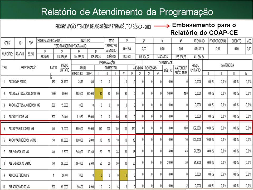 Embasamento para o Relatório do COAP-CE