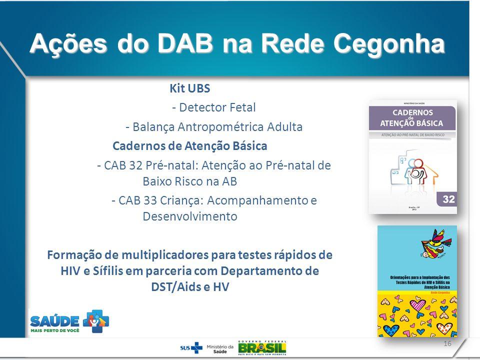 Ações do DAB na Rede Cegonha