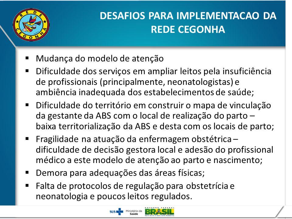 DESAFIOS PARA IMPLEMENTACAO DA REDE CEGONHA