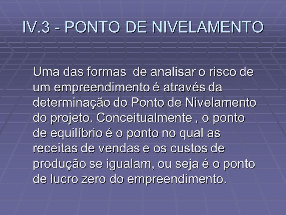 IV.3 - PONTO DE NIVELAMENTO