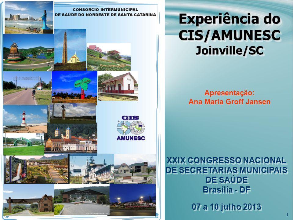 Experiência do CIS/AMUNESC Joinville/SC