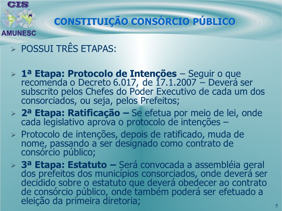 CONSTITUIÇÃO CONSÓRCIO PÚBLICO