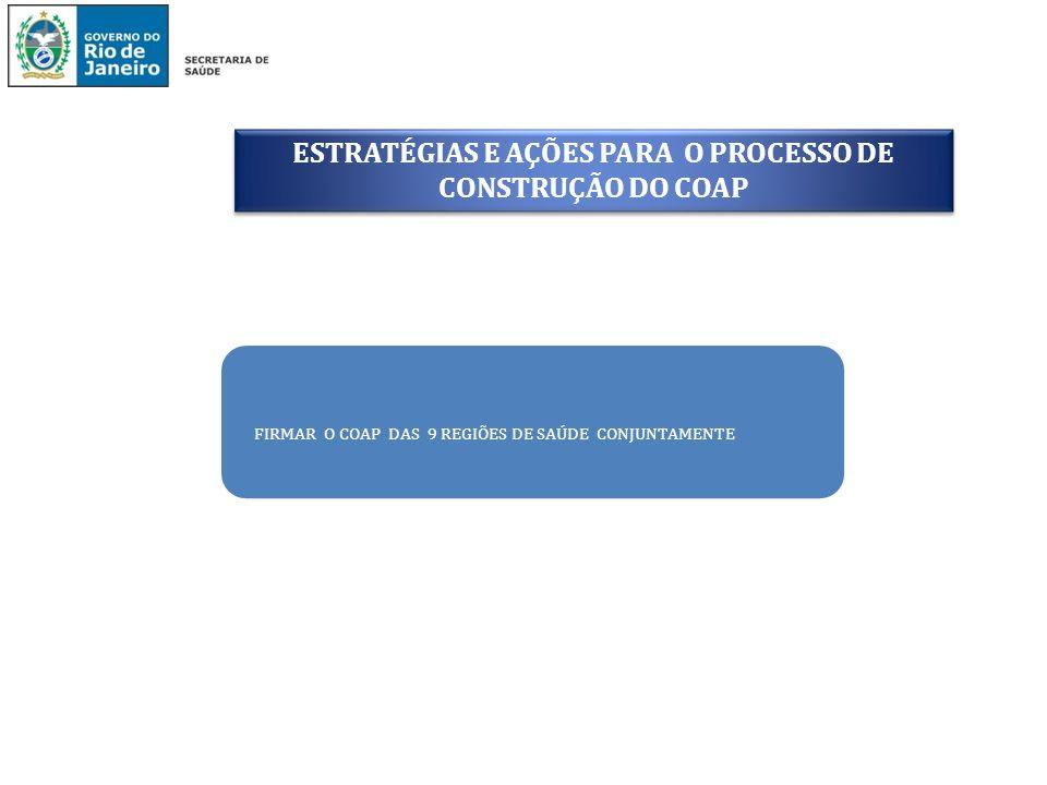 ESTRATÉGIAS E AÇÕES PARA O PROCESSO DE CONSTRUÇÃO DO COAP