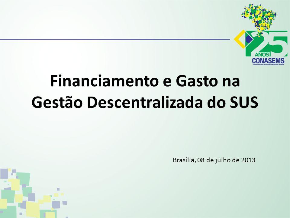 Financiamento e Gasto na Gestão Descentralizada do SUS
