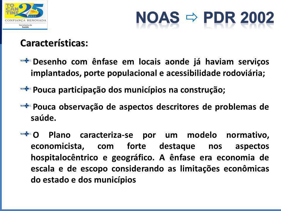 NOAS  PDR 2002 Características: