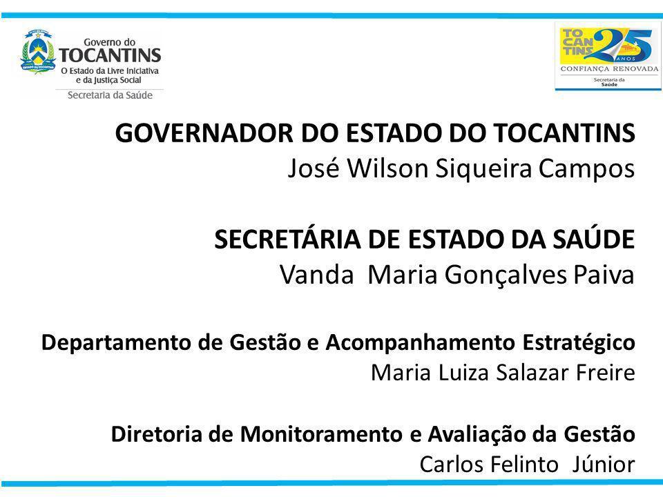GOVERNADOR DO ESTADO DO TOCANTINS José Wilson Siqueira Campos