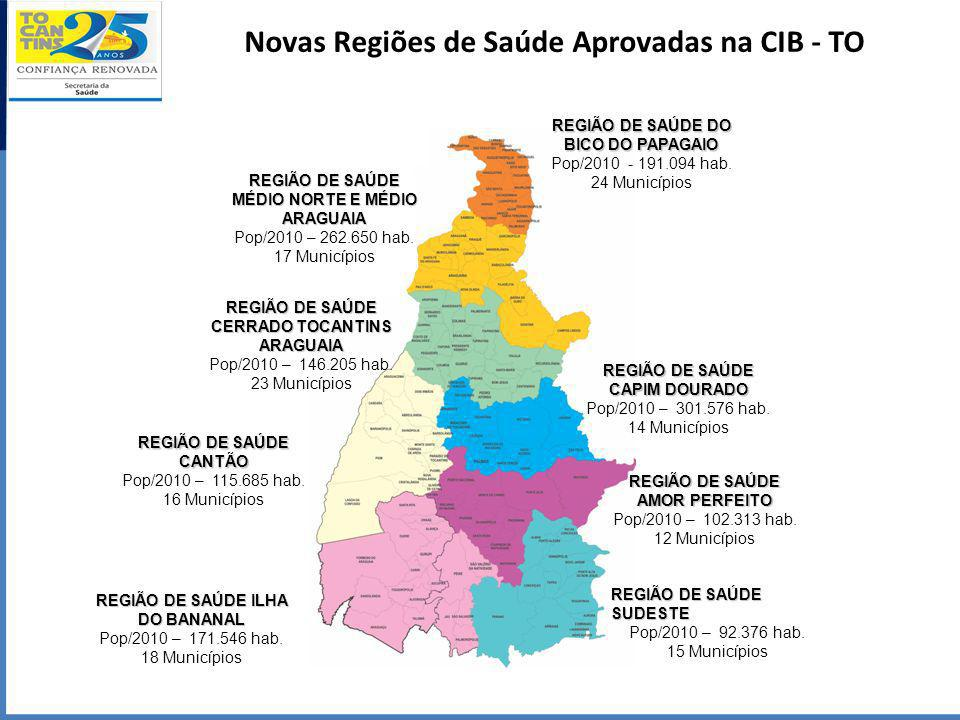 Novas Regiões de Saúde Aprovadas na CIB - TO
