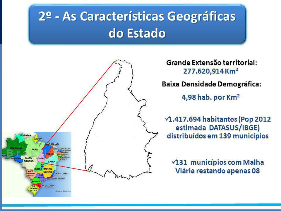 2º - As Características Geográficas do Estado