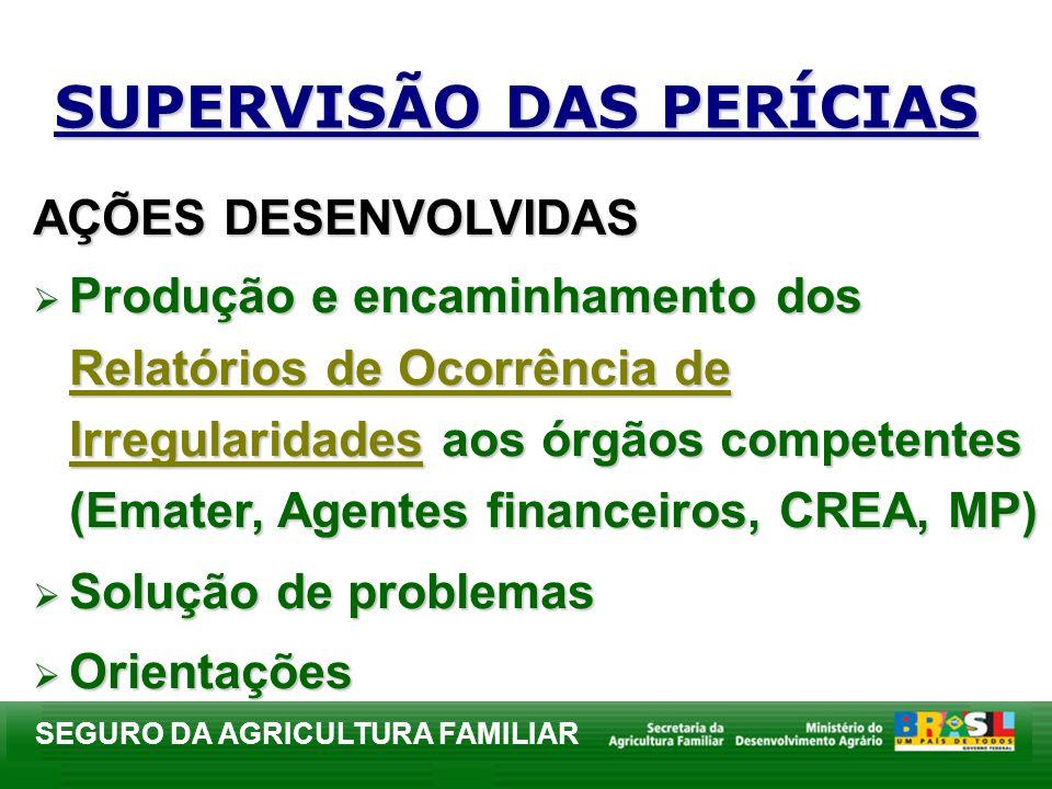 SUPERVISÃO DAS PERÍCIAS