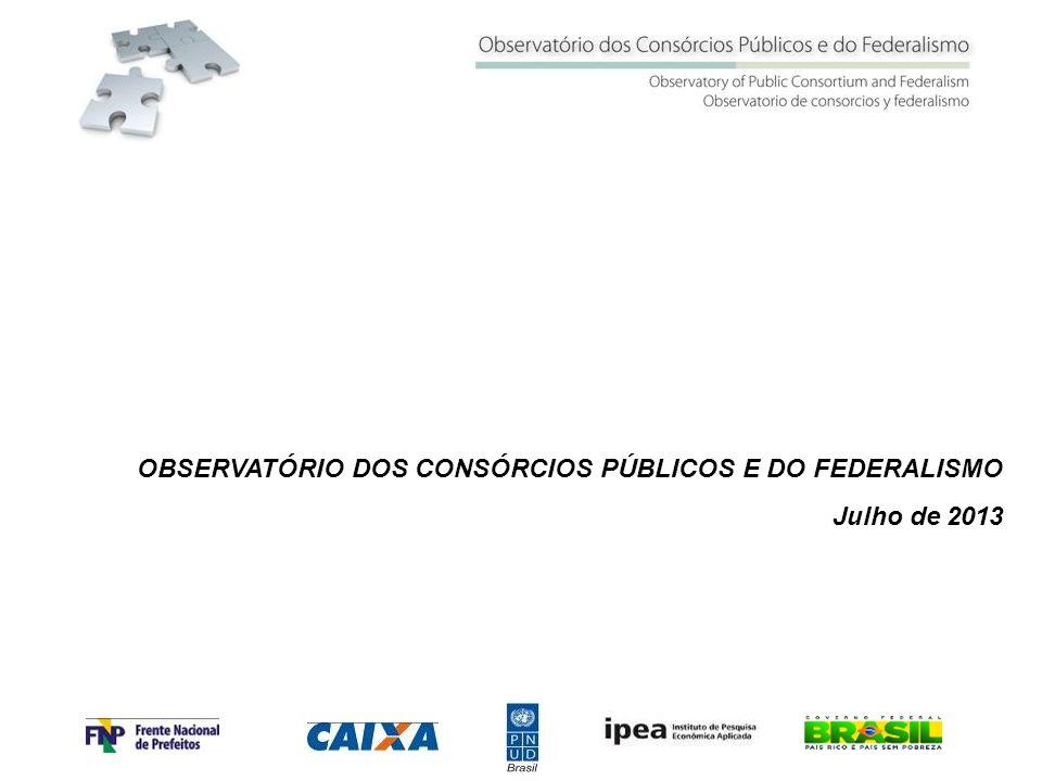 OBSERVATÓRIO DOS CONSÓRCIOS PÚBLICOS E DO FEDERALISMO