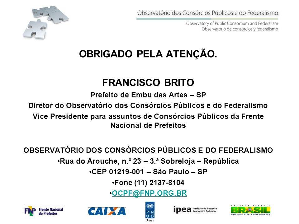 OBRIGADO PELA ATENÇÃO. FRANCISCO BRITO