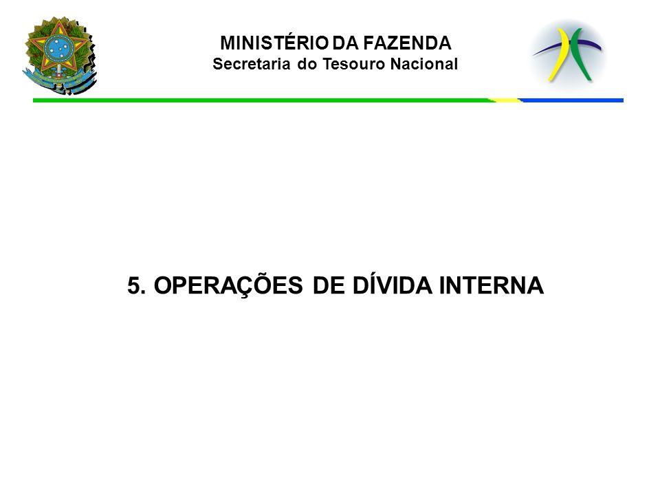 5. OPERAÇÕES DE DÍVIDA INTERNA
