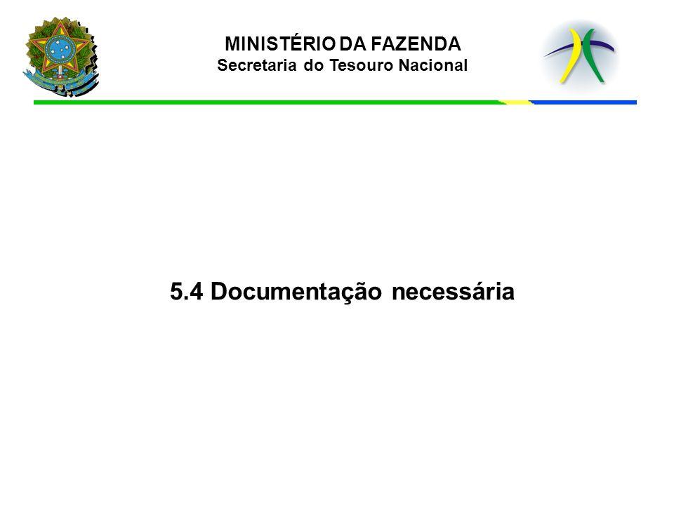 5.4 Documentação necessária